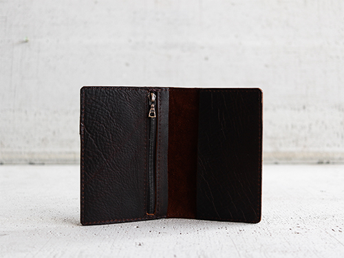 Uphill Designs - Mesa passport and field notes holder - onyx black - back