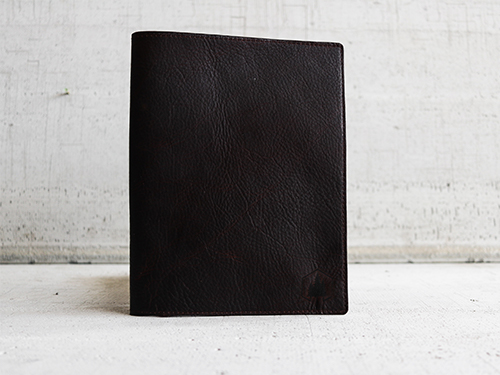 Uphill Designs - Mosaic leather portfolio - english tan - open