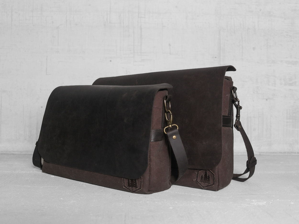 Uphill Designs - Appalachian select messenger bag - canvas color selector