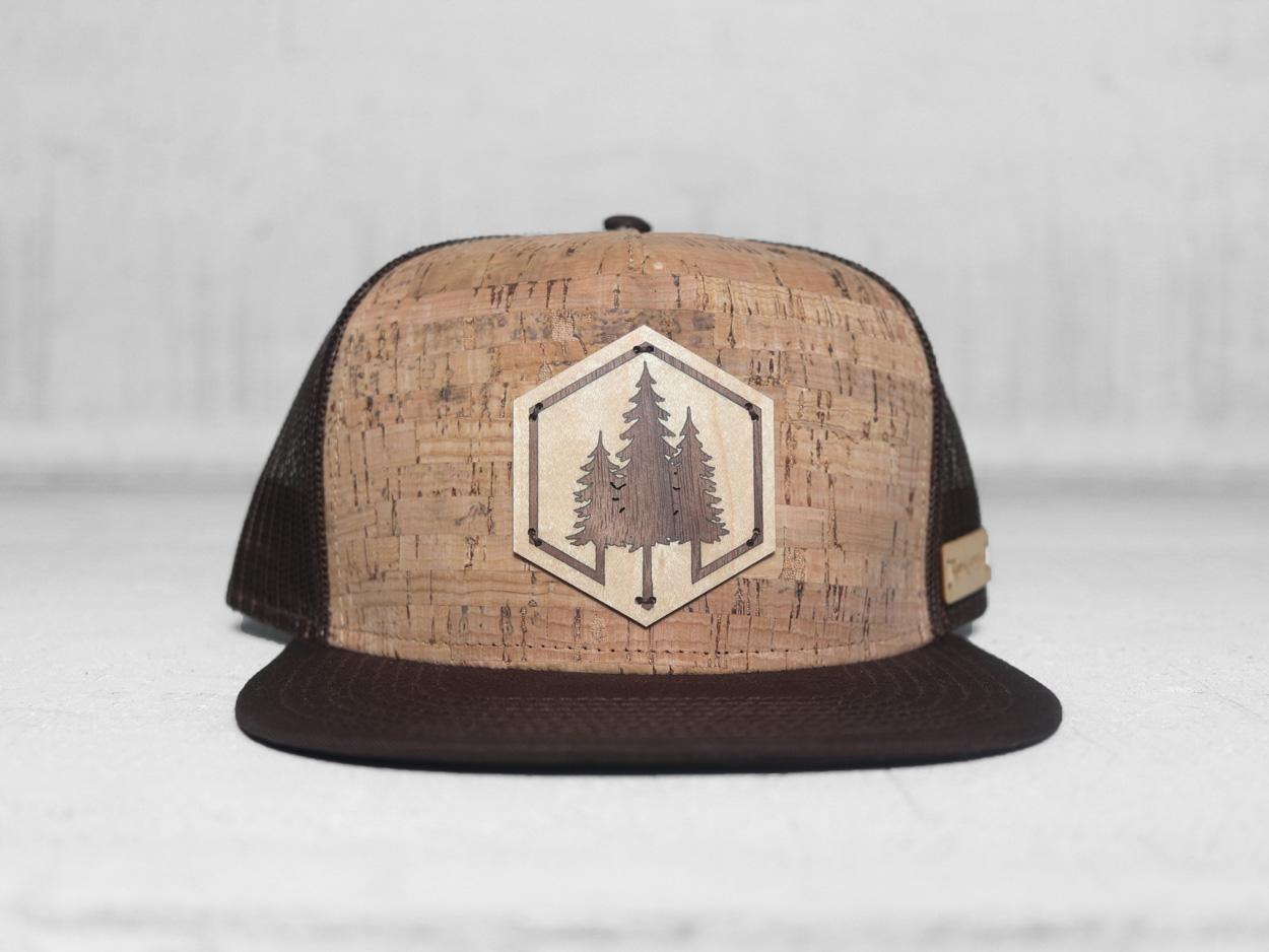 Uphill Designs - trucker hat - light grey - both designs