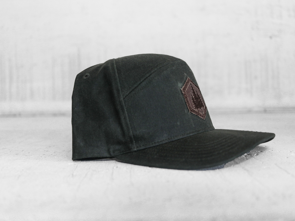 Uphill Designs - trucker hat - light grey - three trees design
