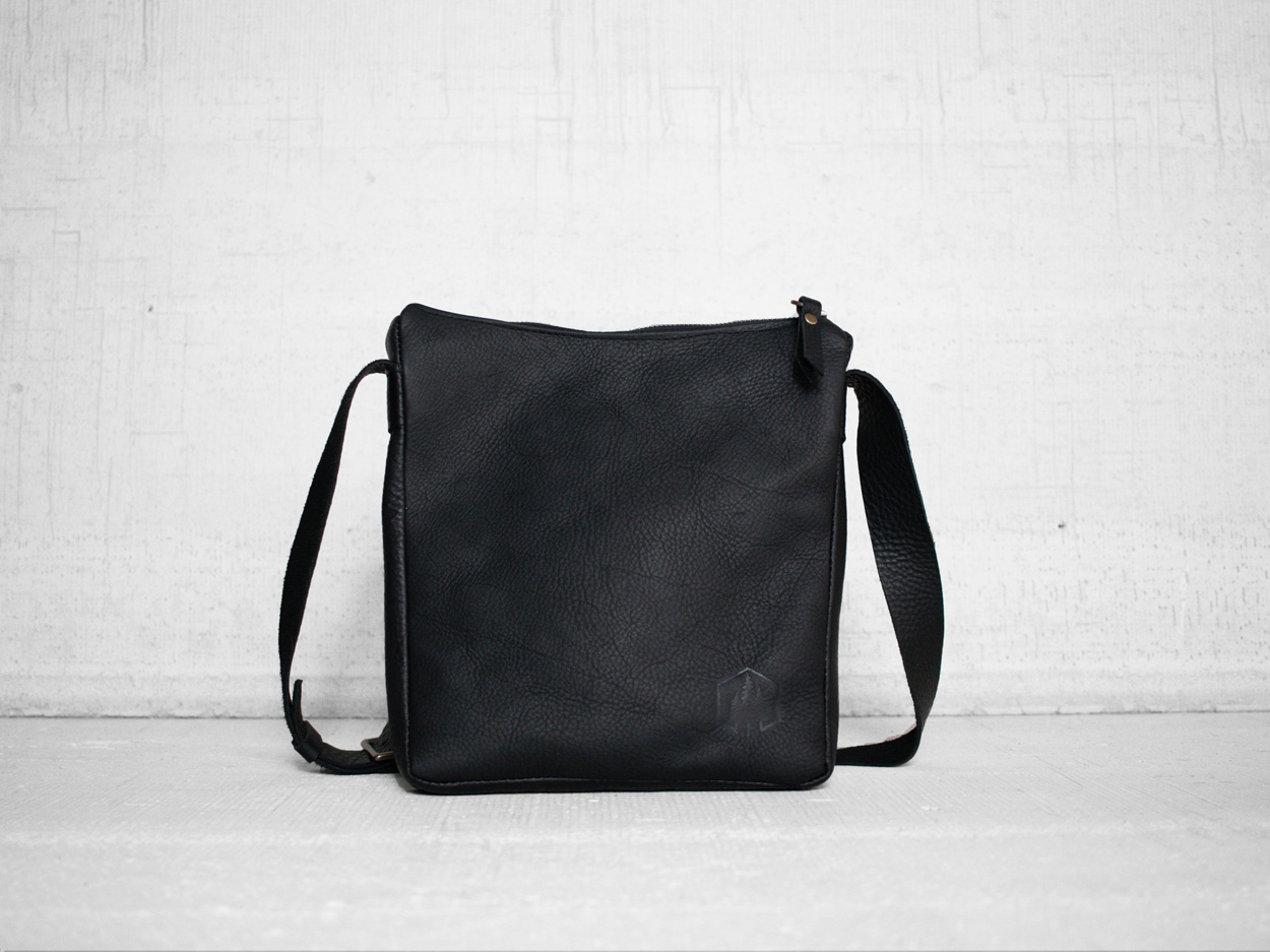Uphill Designs - Logan leather satchel - sable - front