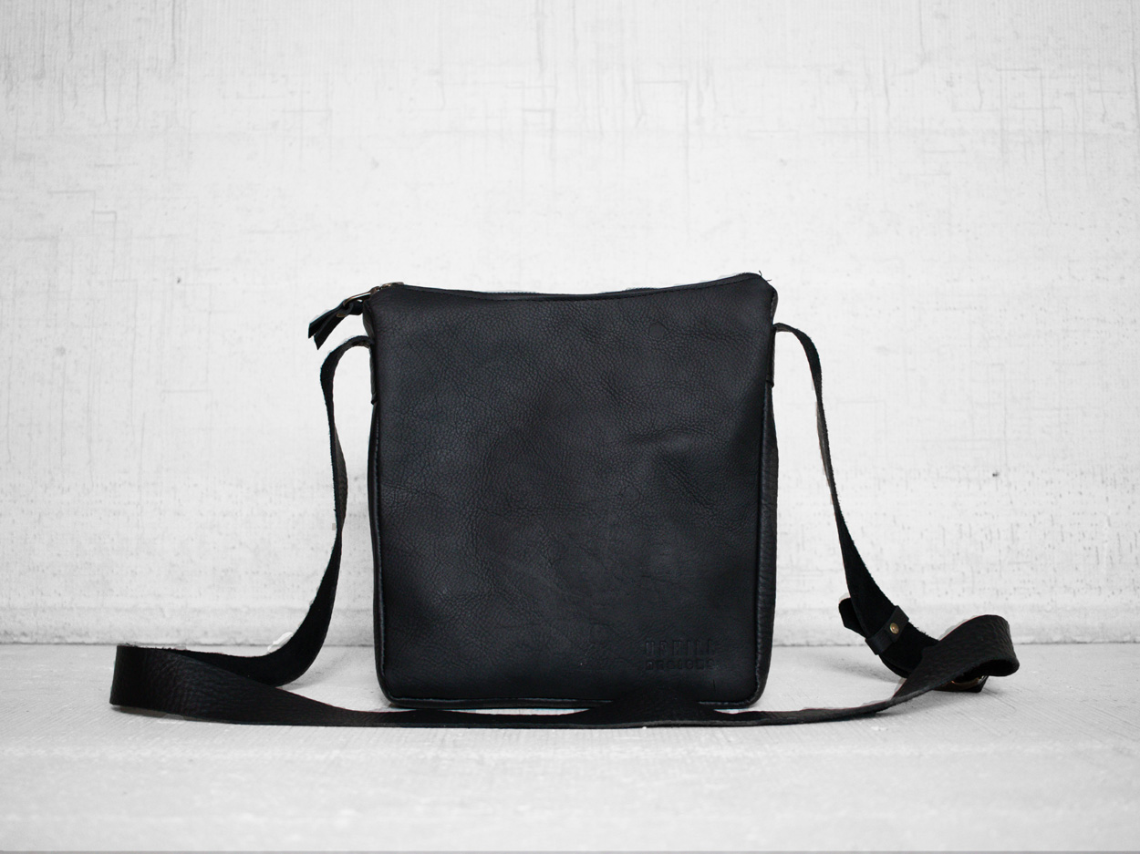 Uphill Designs - Logan leather satchel - sable - back