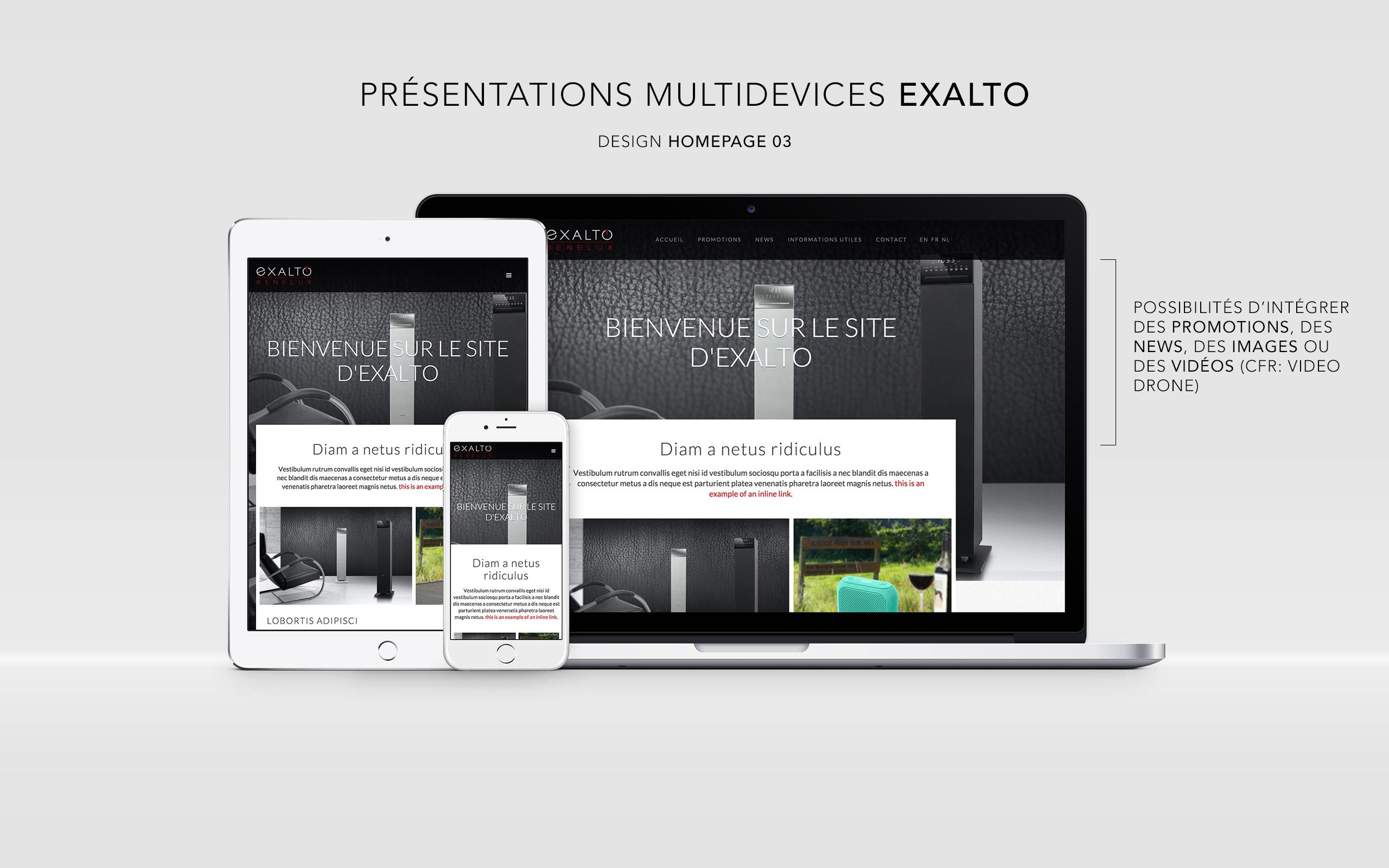 Exalto website
