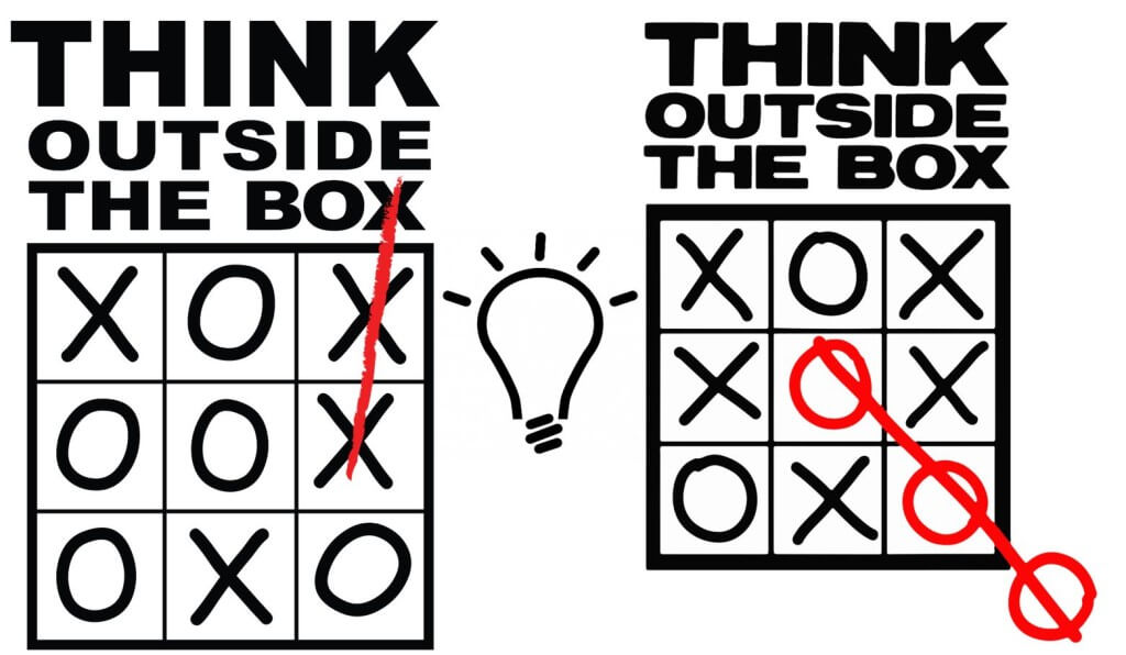 Piensa de manera creativa
