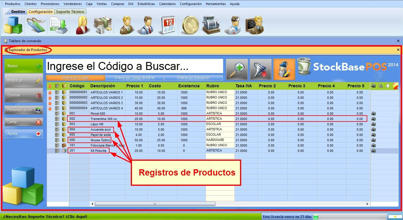 Explorador de Productos
