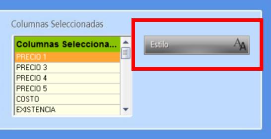 El botón Estilo de la ventana de personalización permite cambiar fuente y tamaño de letra del explorador
