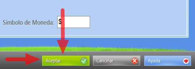 """Presiona el Botón """"Aceptar"""" para que los cambios se graben en la base de datos del programa"""