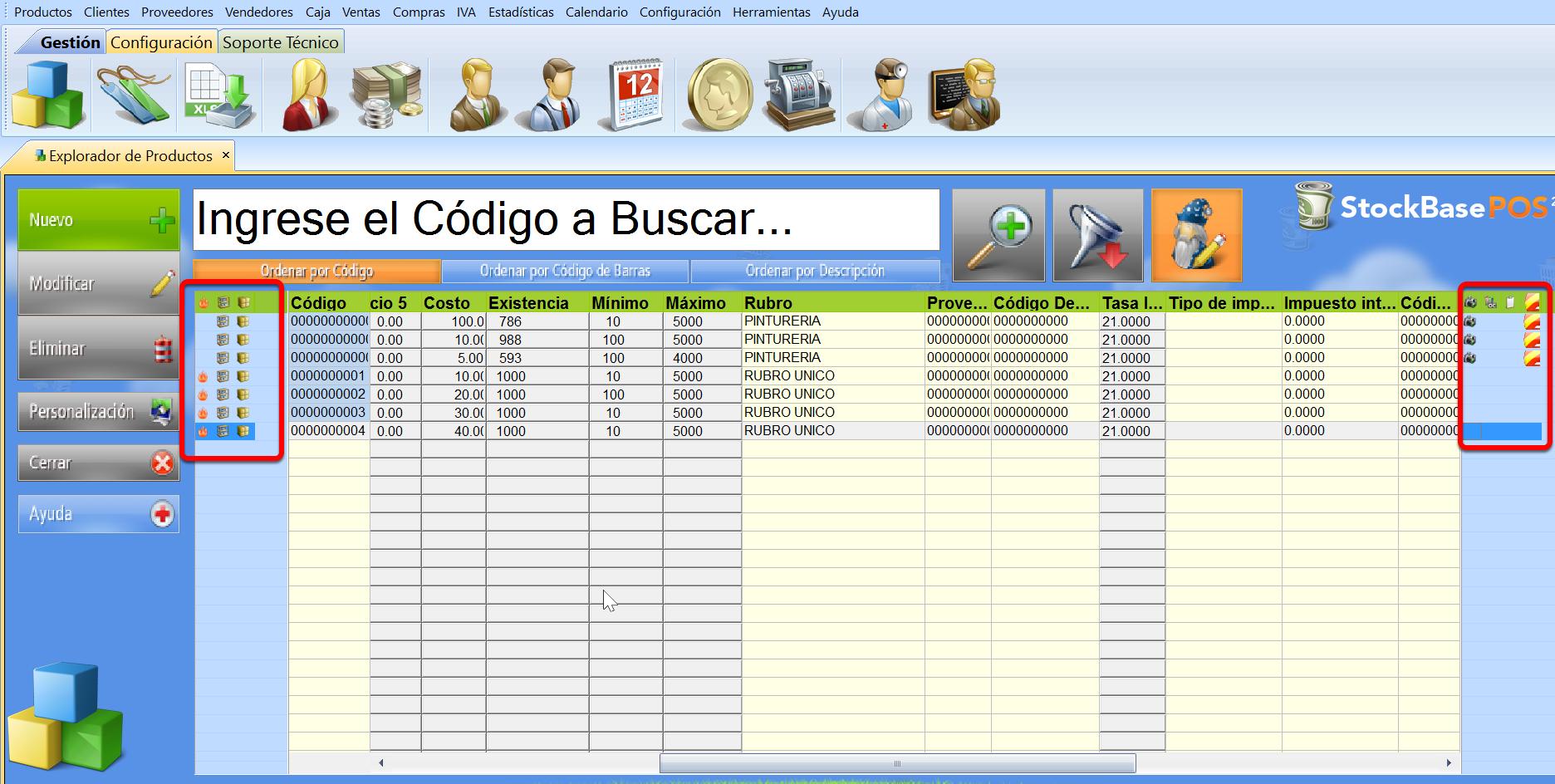 鈥岻conos en los Exploradores de registros permiten lectura o acceso a datos de los registros del software de gestion