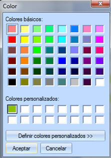 Paleta de colores para elegir