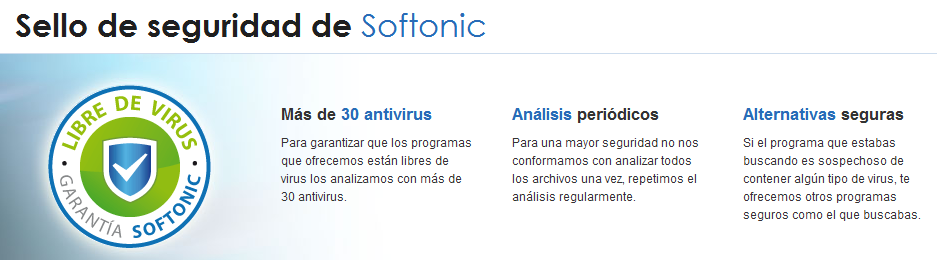 Sello de seguridad de Softonic