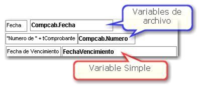 Variables del reporte