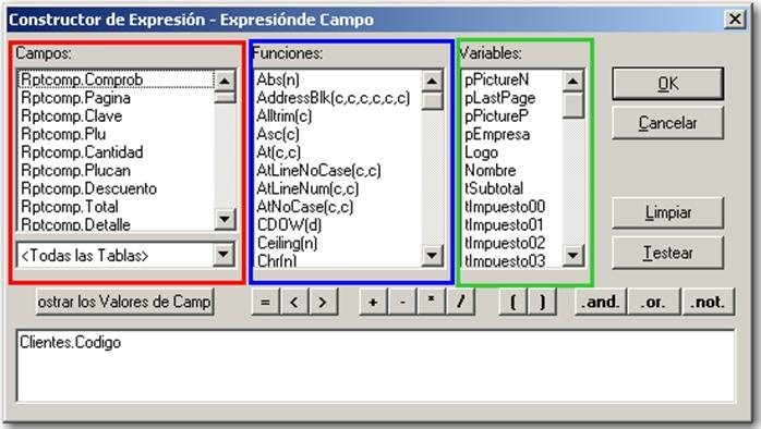 Constructor de Expresi贸n