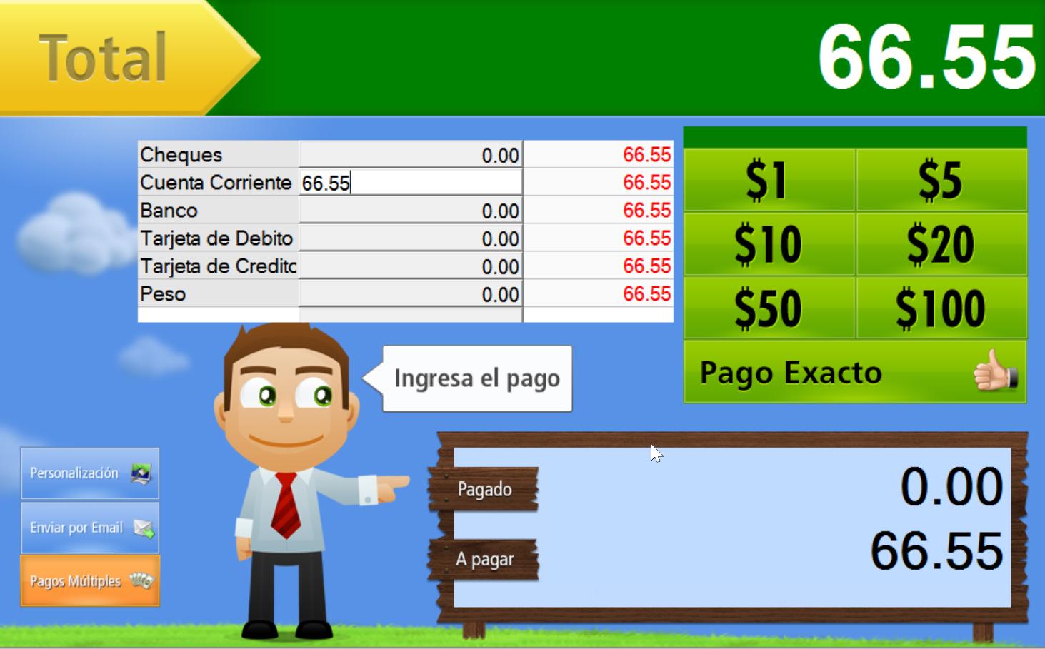 Escribe el monto que te pagar谩 tu cliente a Cuenta Corriente