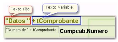Texto fijo y texto variable