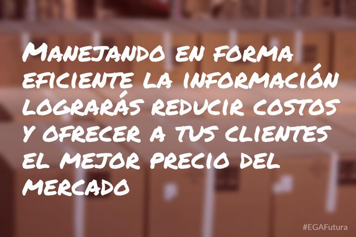 Manejando en forma eficiente la información lograrás redicor costos y ofrecer a tus clientes el mejor precio del mercado