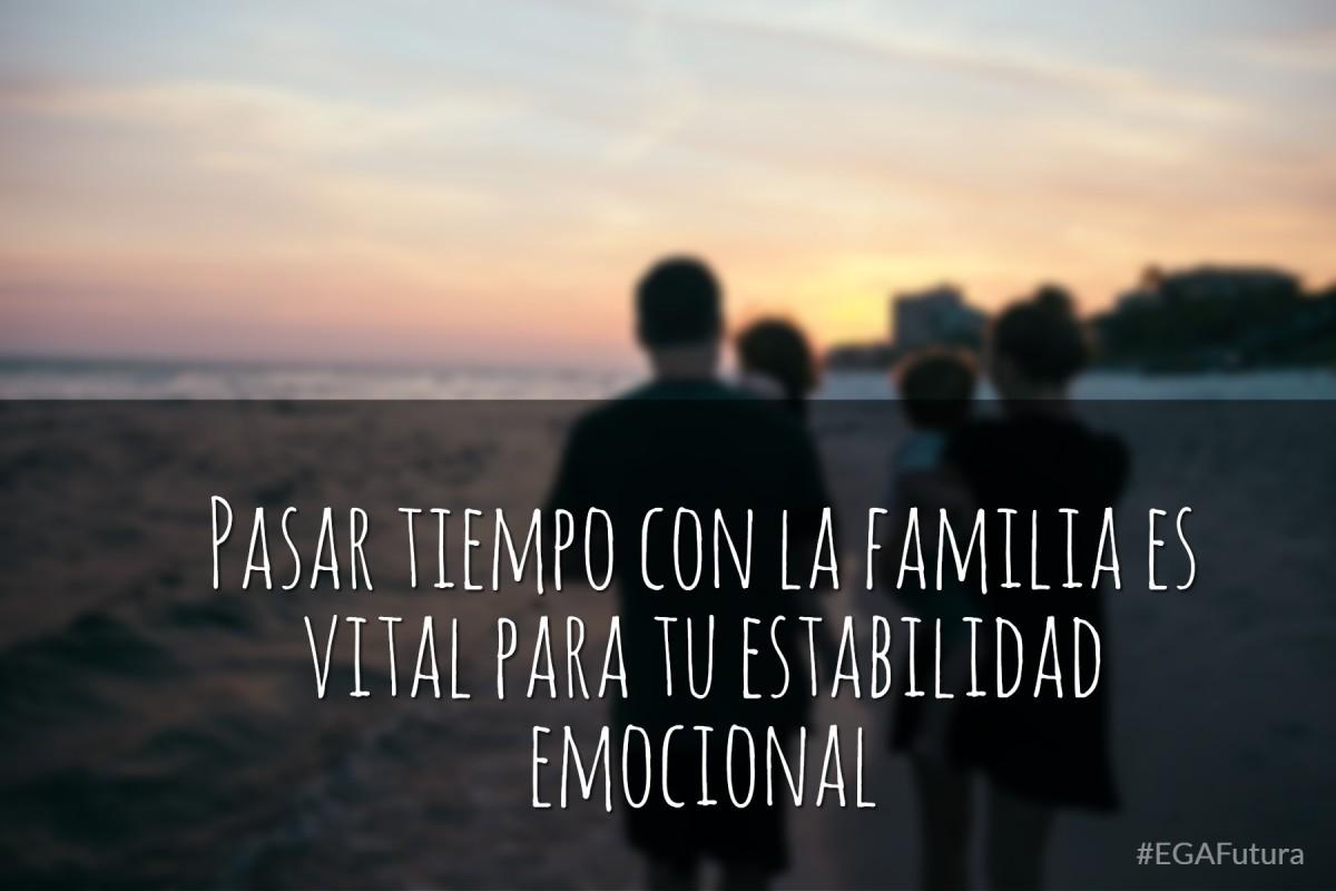 Pasar tiempo con la familia es vital para tu estabilidad emocional