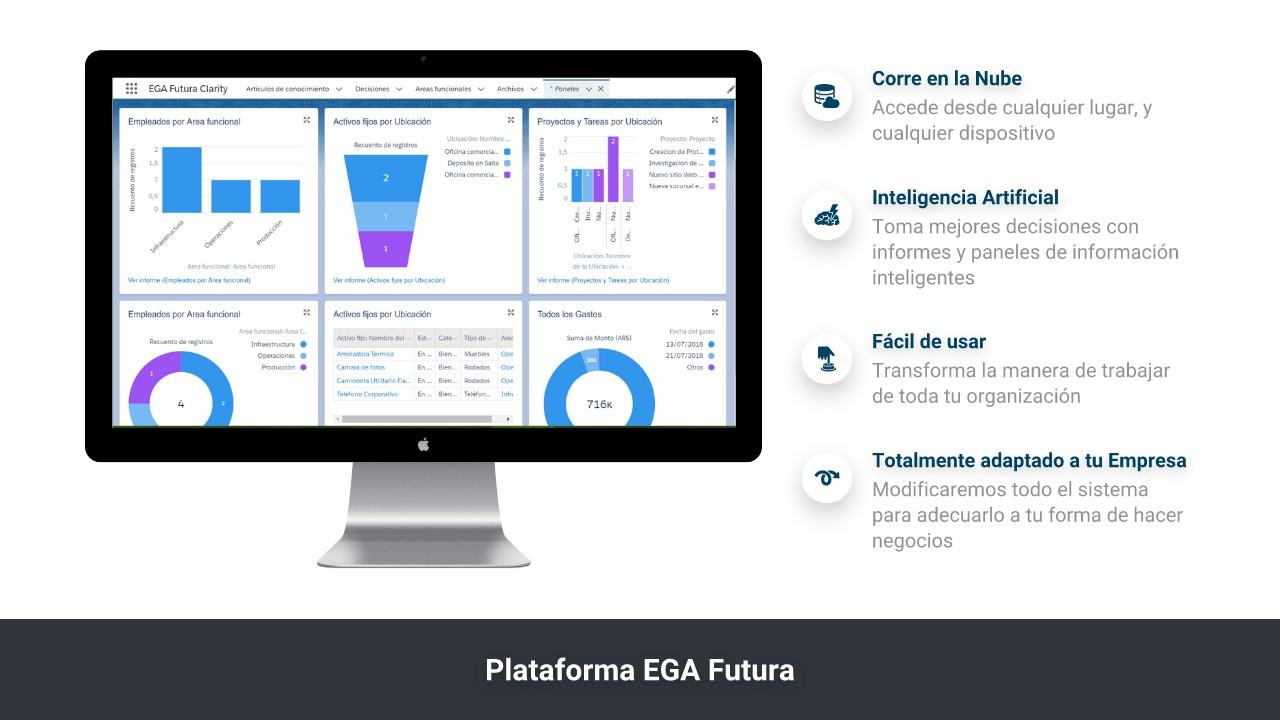 La Plataforma EGAFutura es fácil de usar y corre en la Nube