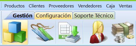 Barra herramientas stock software
