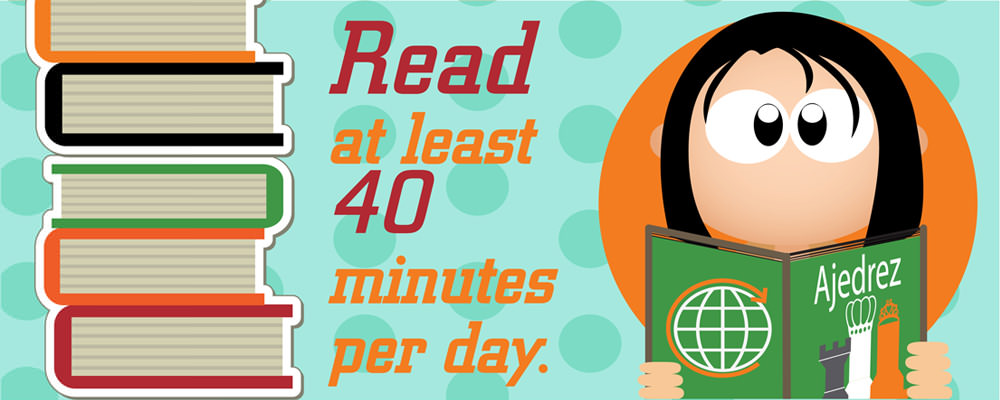 Read at least 40 minutes per day