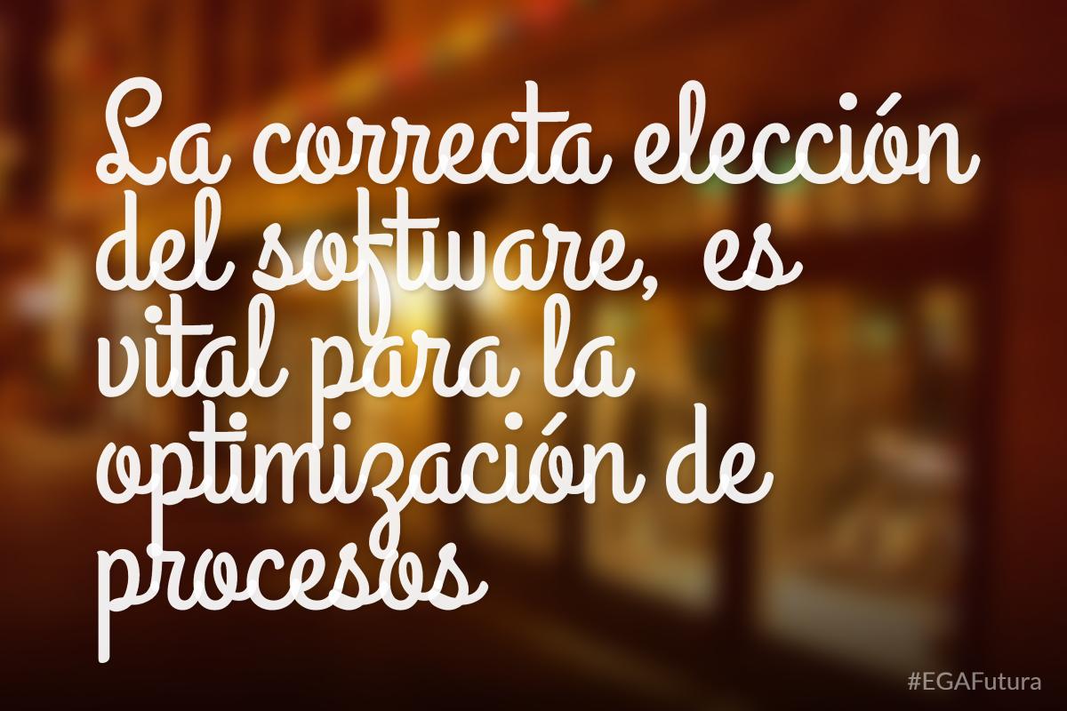 La correcta elección del software, es vital para la optimización de procesos
