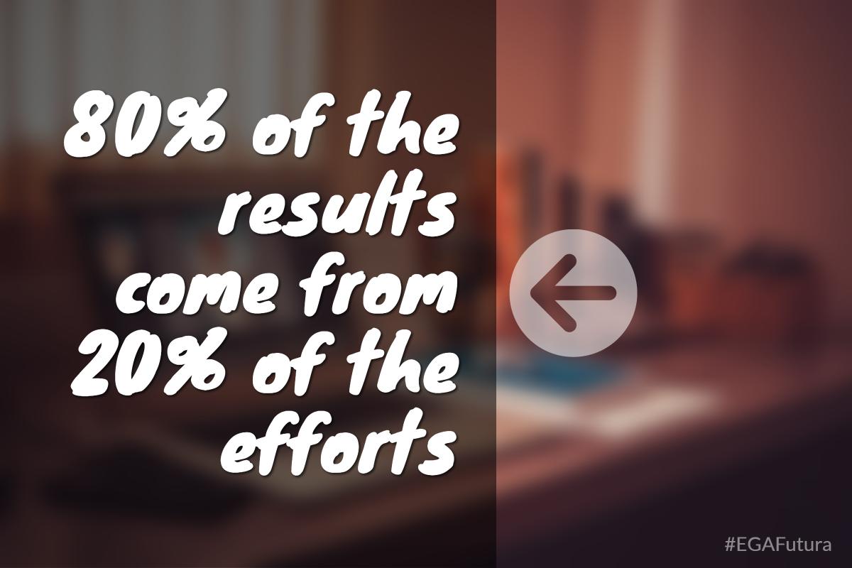 80% of the results come from 20% of the efforts