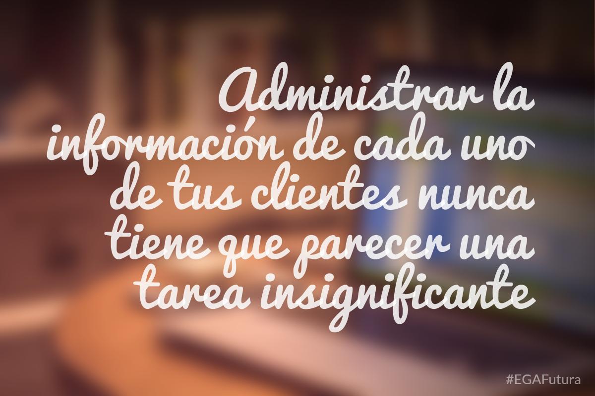 Administrar la informaci贸n de cada uno de tus clientes nunca tiene que parecer una tarea insignificante
