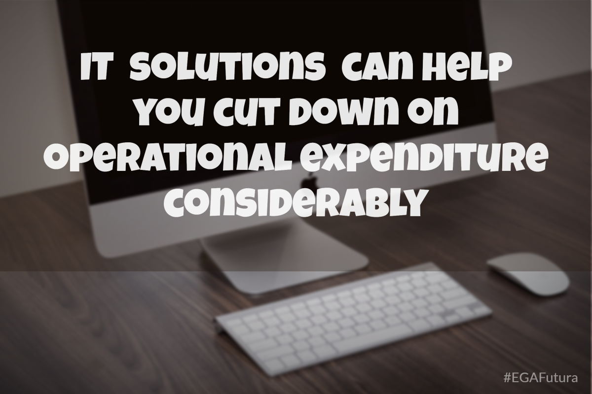 IT solutions can help you cut down on operational expenditure considerably