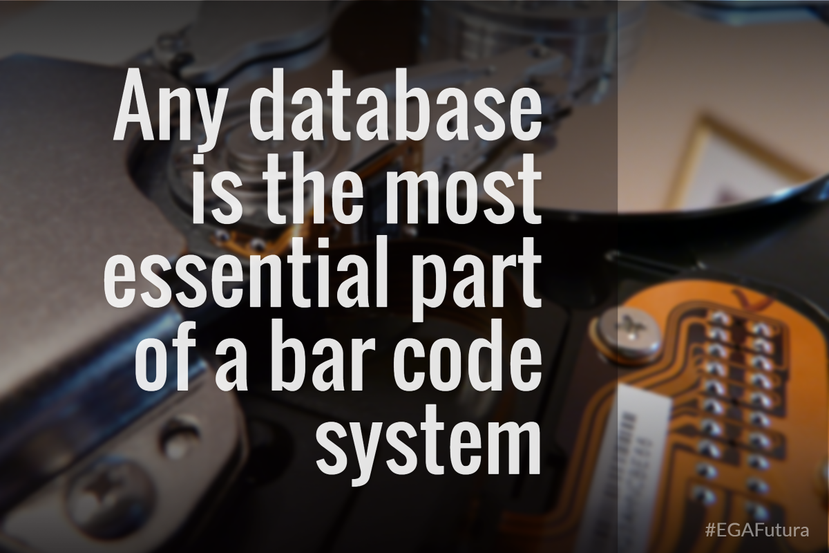 Any database is the most essential part of a bar code system