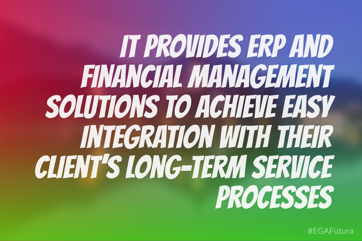 It provides ERP and financial management solutions to achieve easy integration with their client's long-term service processes