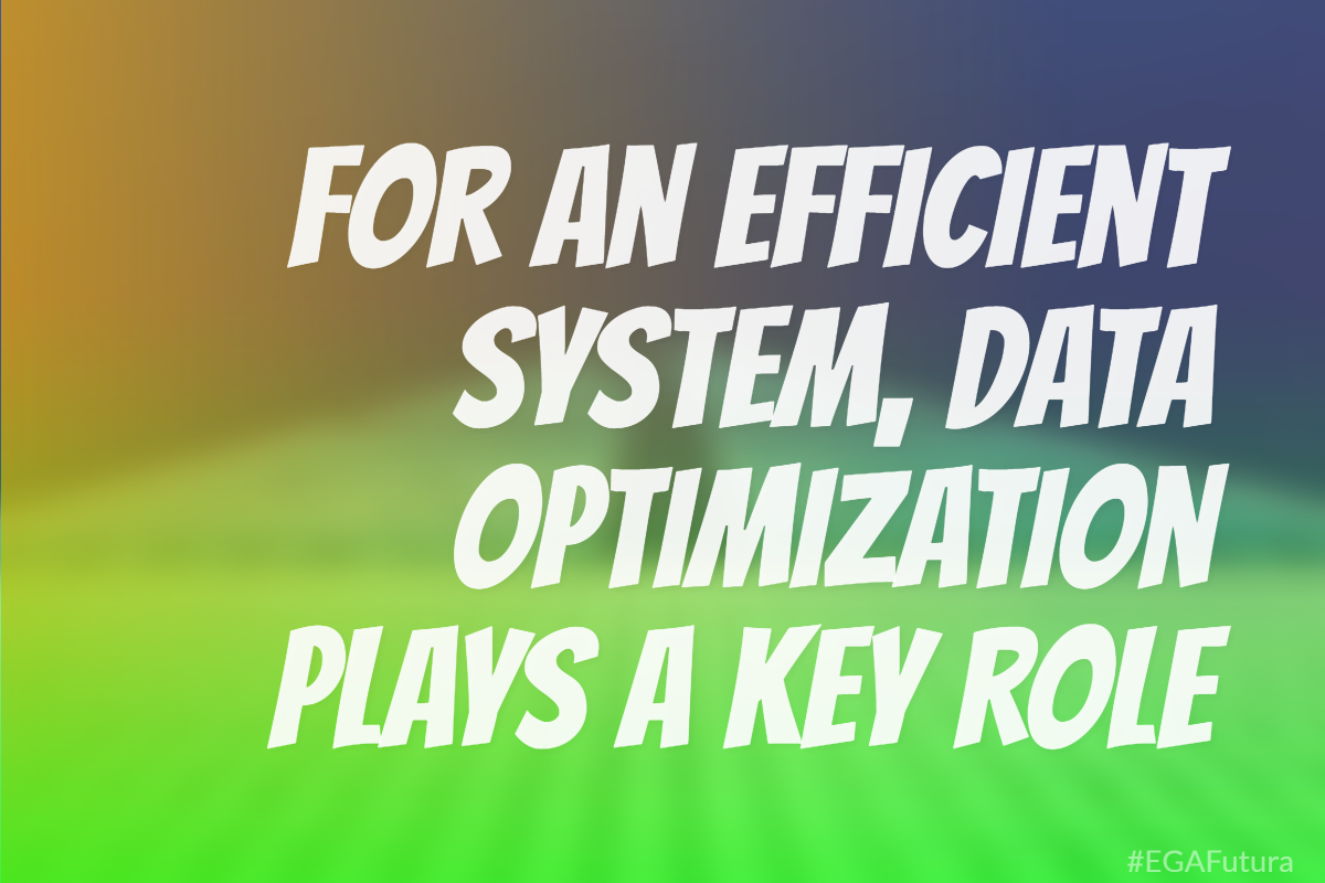 For an efficient system, data optimization plays a key role