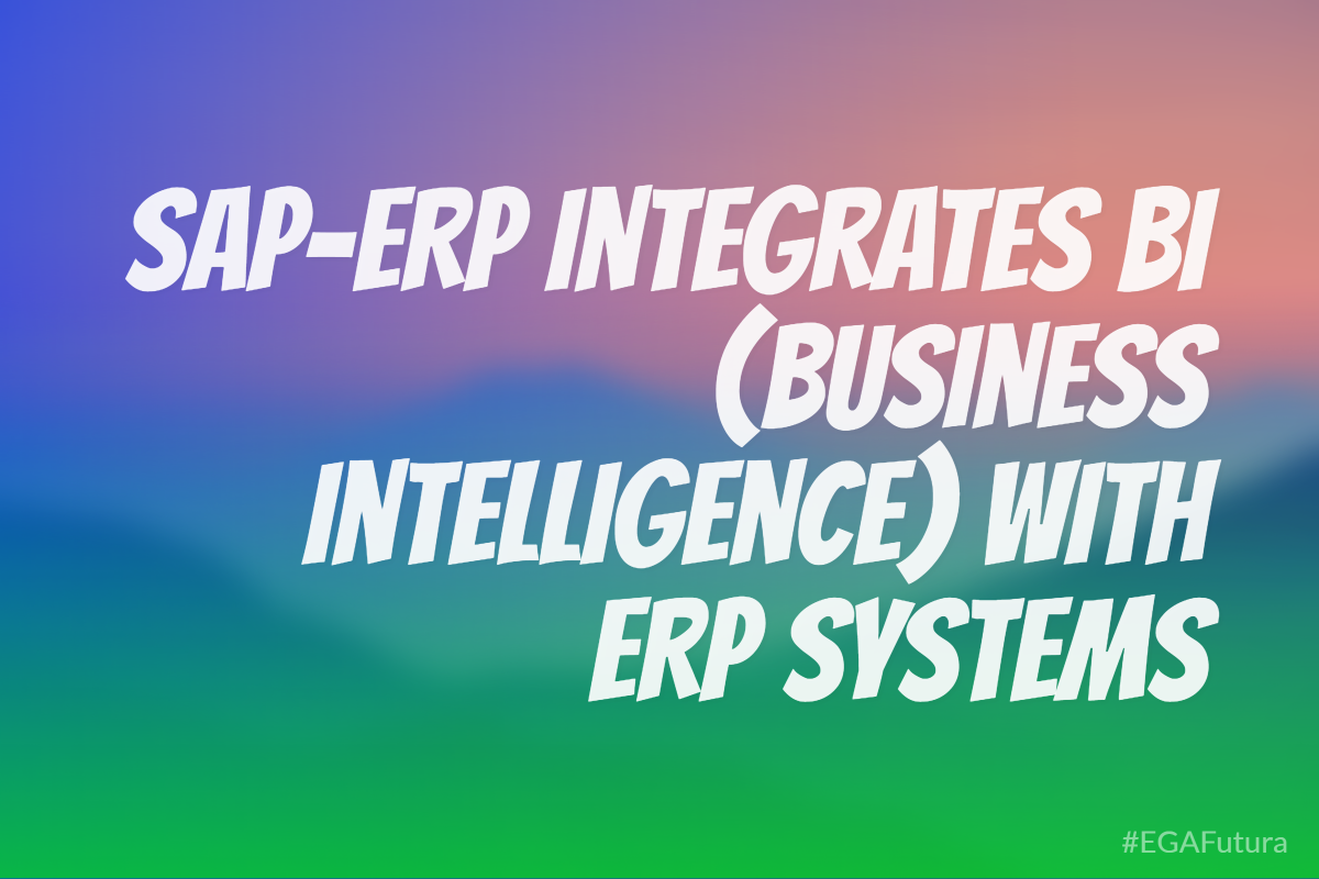 This is one of the biggest strengths of SAP-ERP, in this it integrates BI (Business Intelligence) with ERP Systems.
