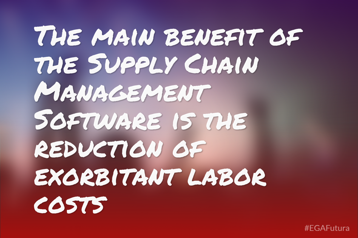 The main benefit of the supply chain management software is the reduction of exorbitant labor cost.