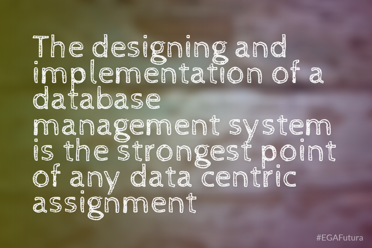 The designing and implementation of a database management system is the strongest point of any data centric assignment.