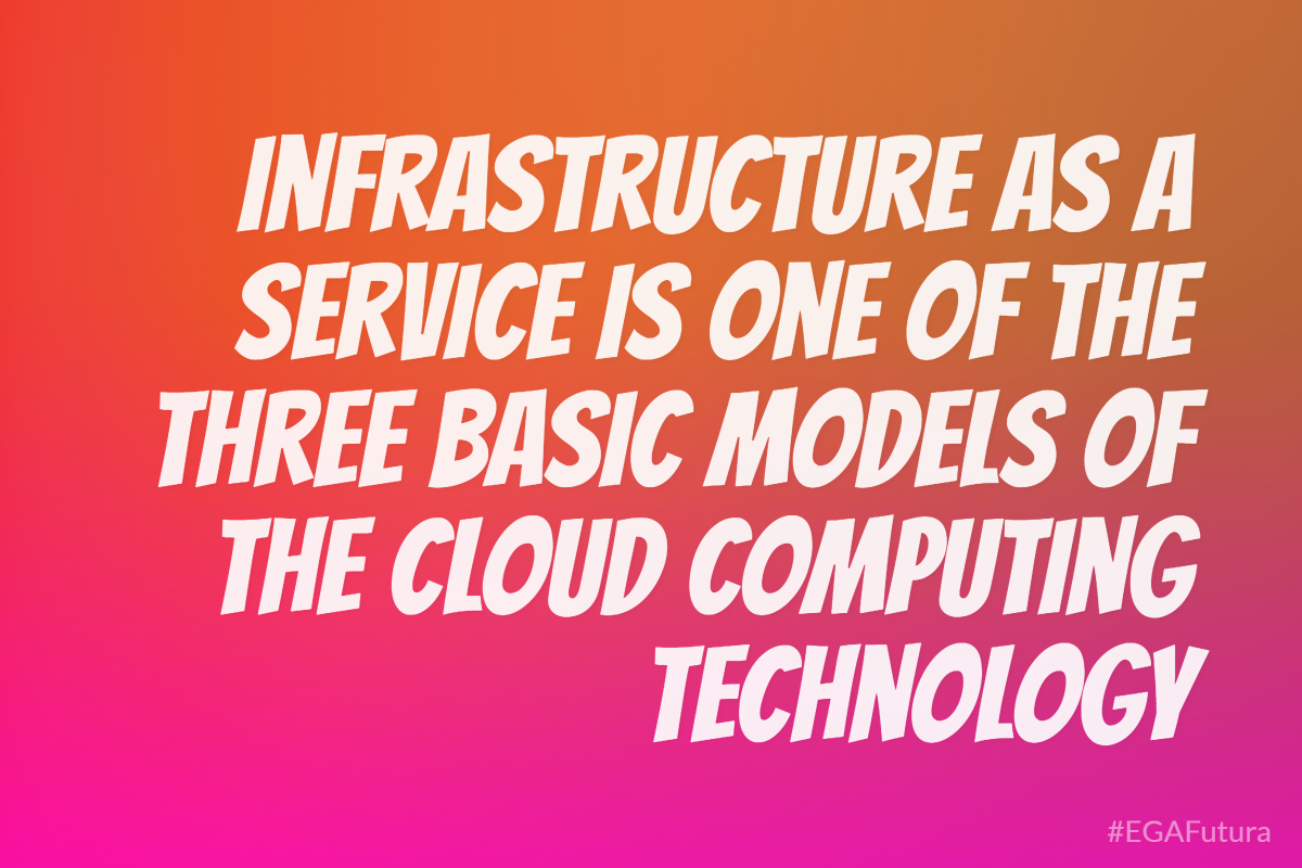 Infrastructure as a Service is one of the three basic models of the cloud computing technology.