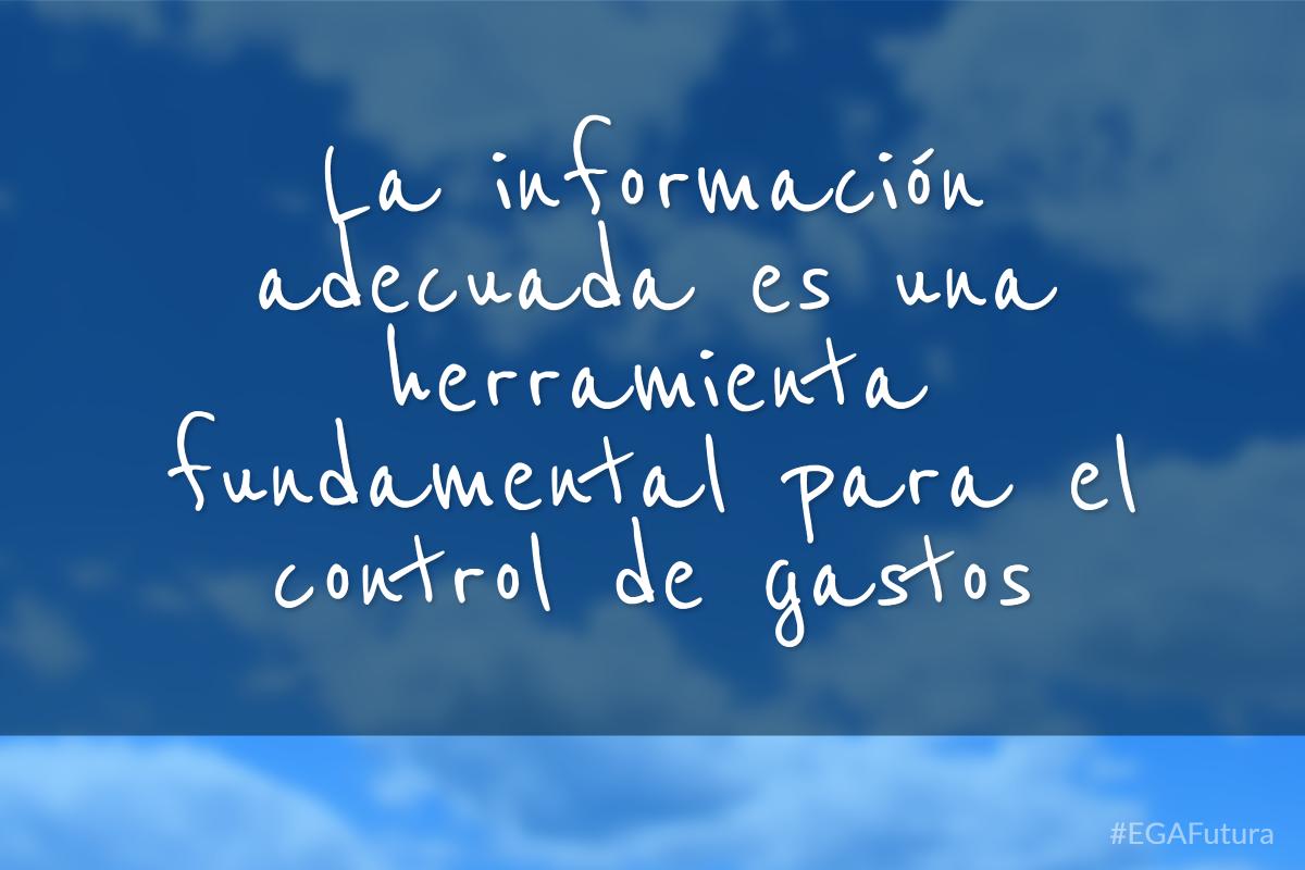 La información adecuada es una herramienta fundamental para el control de gastos