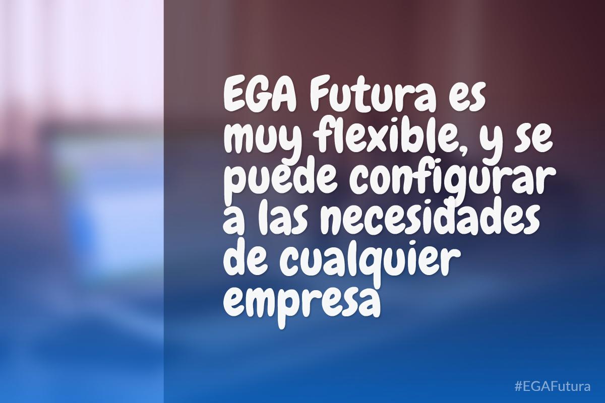 EGA Futura es muy flexible, y se puede configurar a las necesidades de cualquier empresa