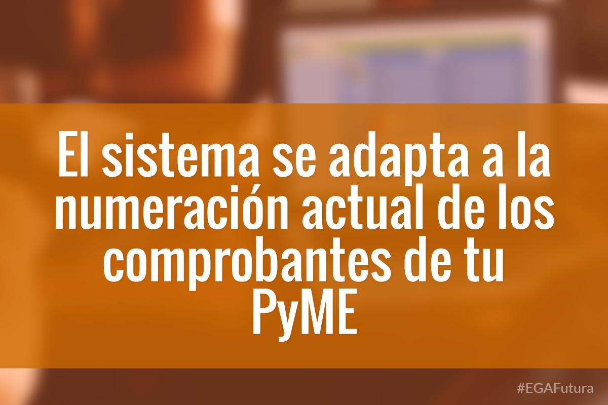 El sistema se adapta a la numeraci贸n actual de los comprobantes de tu PyME