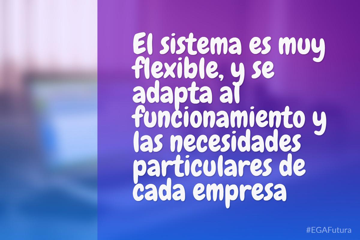 El sistema es muy flexible, y se adapta al funcionamiento y las necesidades particulares de cada empresa