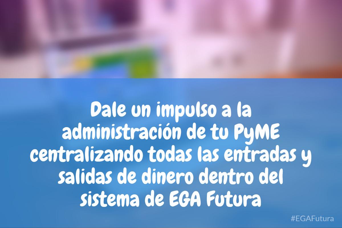 Dale un impulso a la administraci贸n de tu PyME centralizando todas las entradas y salidas de dinero dentro del sistema de EGA Futura