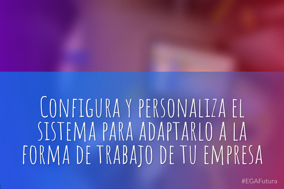 Configura y personaliza el sistema para adaptarlo a la forma de trabajo de tu empresa