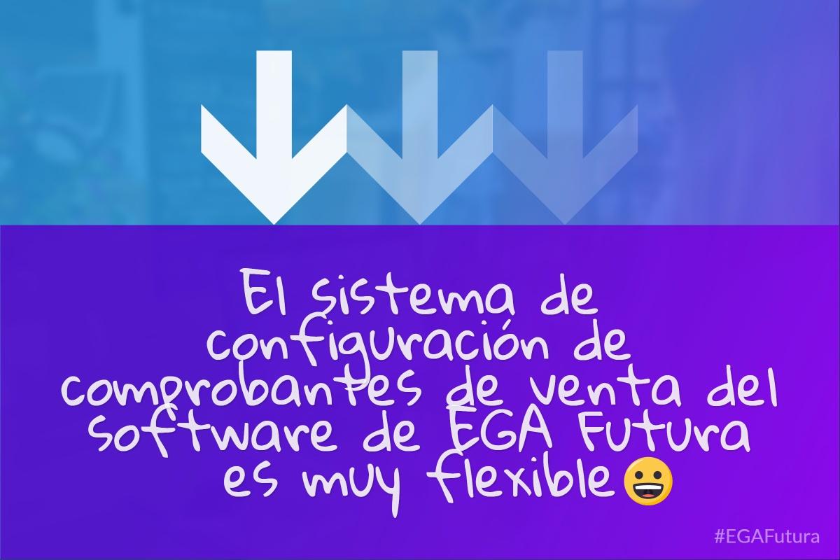 �El sistema de configuración de comprobantes de venta del software de EGA Futura es muy flexible