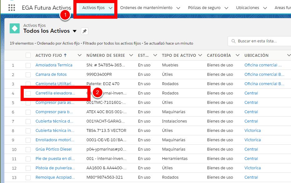 En el objeto se almacena información en la base de datos en formato de Registros