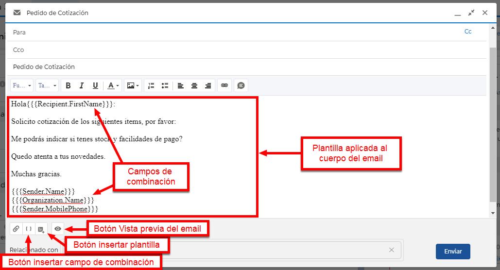 También llamada plantilla de email o email template. Es un texto predefinido que se aplica a un correo electrónico para evitar tener que escribir el mismo mensaje de email varias veces. Utilizar plantillas de email sirve para estandarizar el envío de mensajes de correo electrónico. Es un texto que se redacta con anticipación, puede contener el membrete de la empresa, un saludo predefinido con la firma del remitente y formato de texto enriquecido.