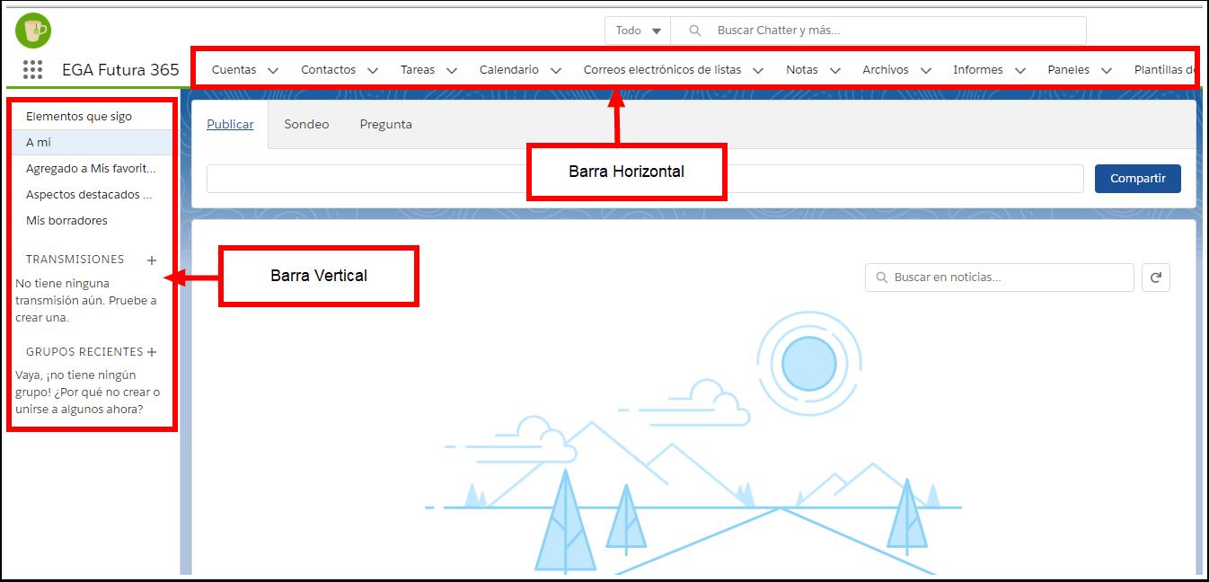 Barra herramientas utilidades navegacion tareas Plataforma EGA Futura ERP sistema software nube gestion empresarial