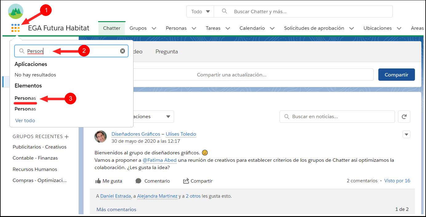 Acceder Perfil Usuario Plataforma EGA Futura ERP nube