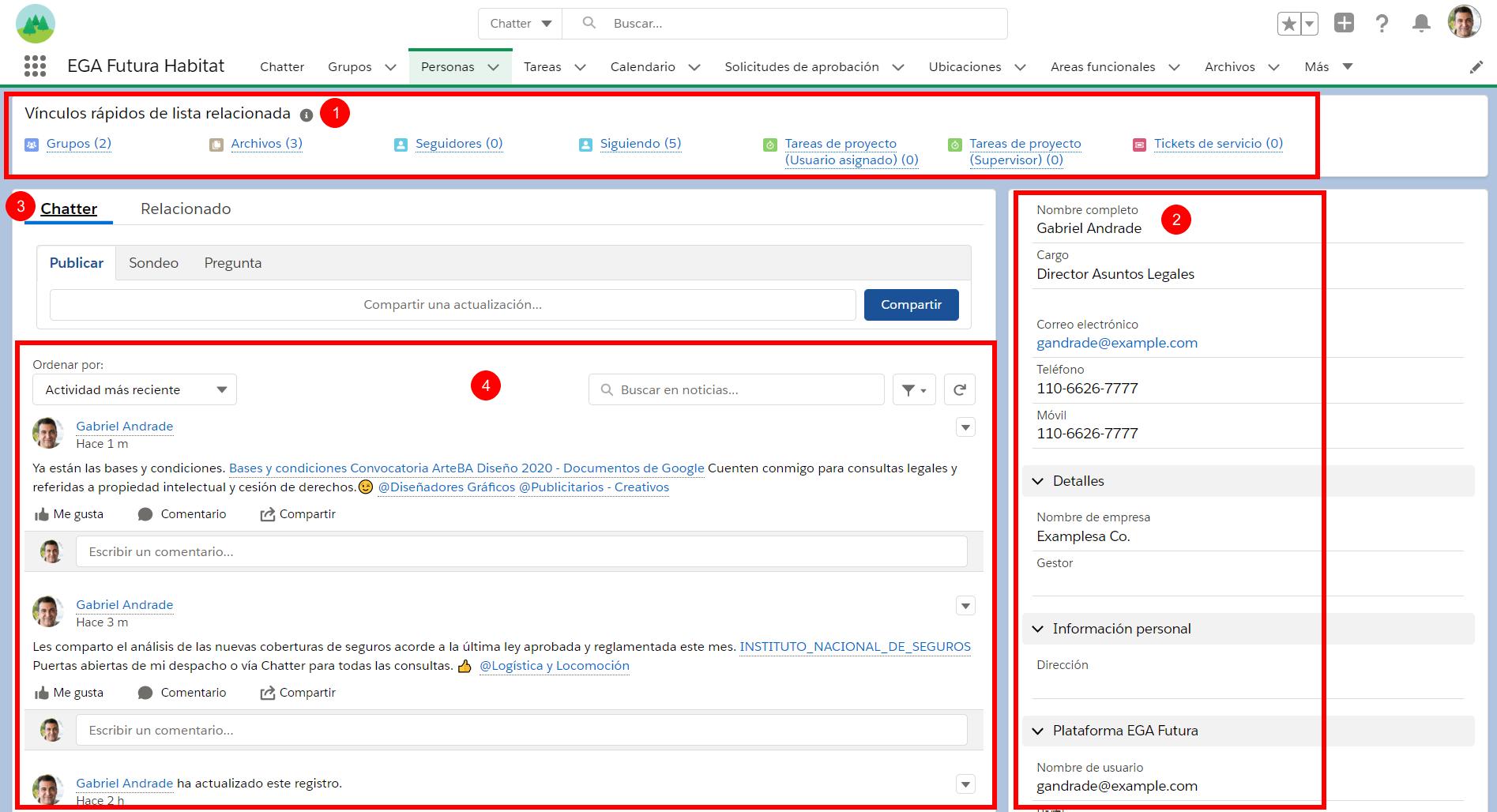 sectores perfil usuario plataforma EGA Futura ERP nube