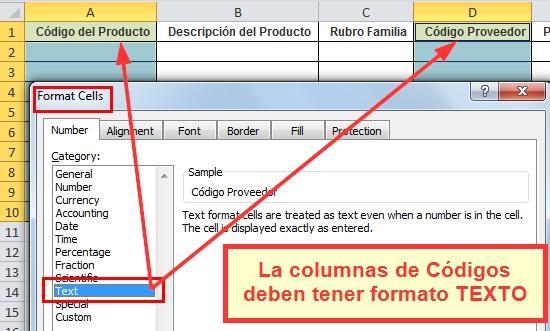 Campos de Excel