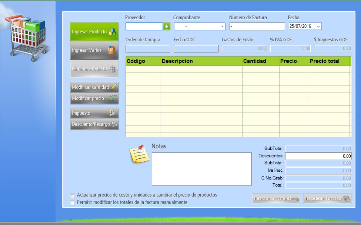 ingresa los datos del proveedor, y los productos que forman parte de la factura