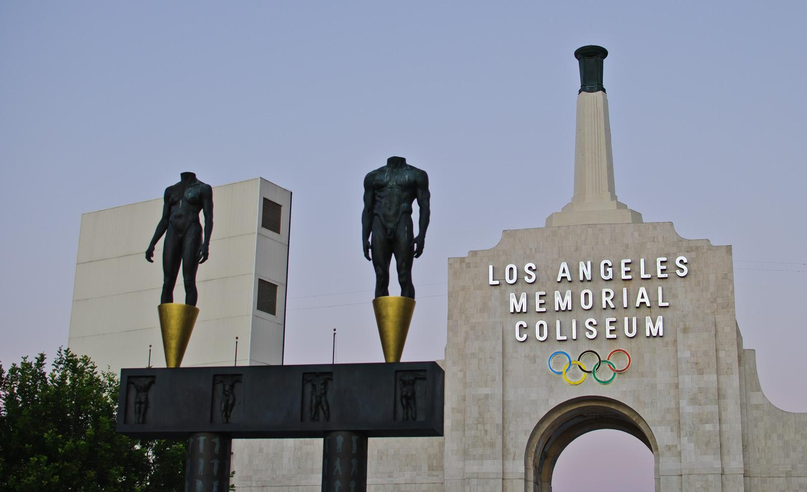 the LA Coliseum